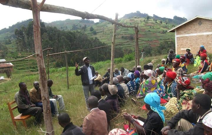 Community mapping meeting in Gakenke district