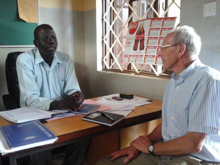 John Royle in Uganda