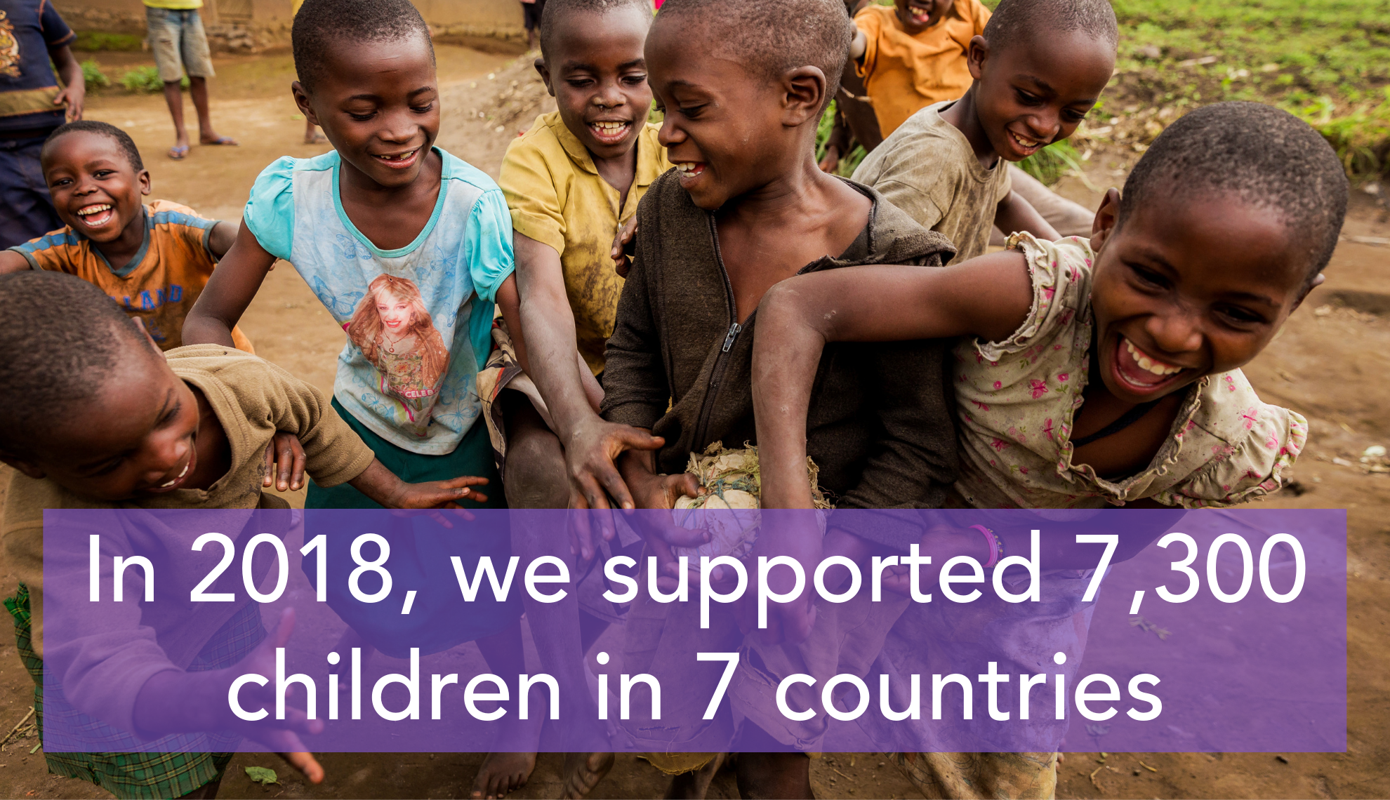 In 2018 we supported 7,300 children in 7 countries